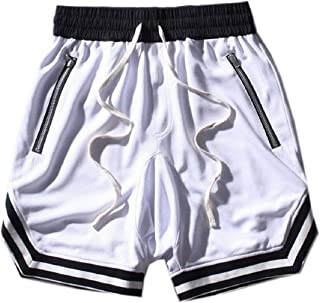 ZXFHZS Men Workout Gym Shorts Short Fitted Training Bodybuilding Jogger with Pockets