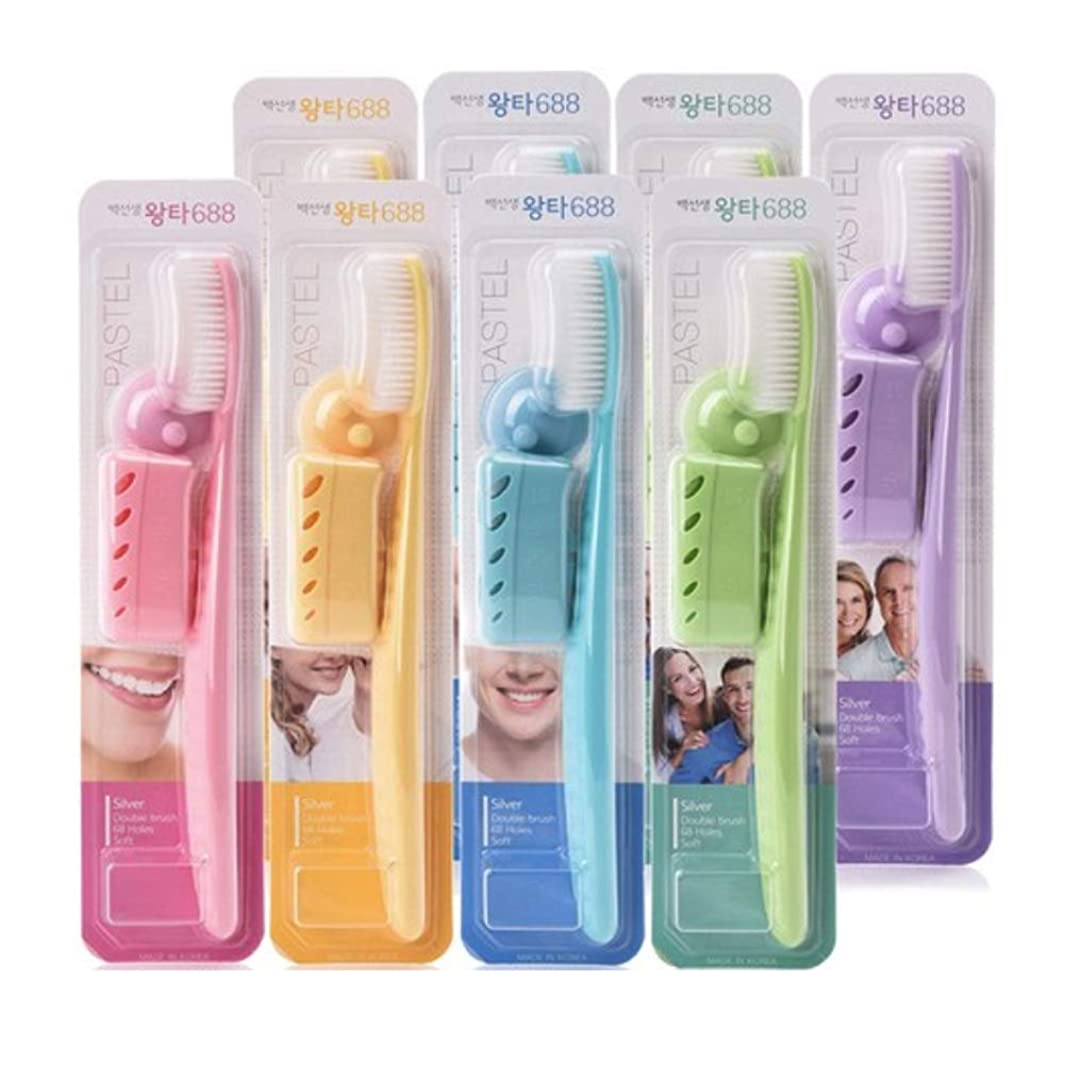 悩む傾いた鳴り響くBaik's Wangta Toothbrush Set of 8 白先生 ワンタ 歯ブラシ8個 [海外直送品]