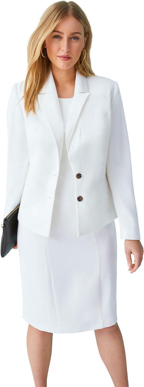 Jessica London Women's Plus Size Single Breasted Jacket Dress Suit