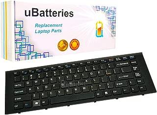 UBatteries Compatible Laptop Keyboard Replacement For Sony VAIO VPC-EG 9Z.N7ASW.101 9Z.N7ASM.002 148970211 148969711 148981511 1-489-815-11 1-489-702-11 9Z.N7ASW.301 V081630BZ- Black with Black frame
