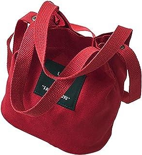 LYCOS3 LYCOS3 Damen Handtasche aus Segeltuch, Mini-Schultertasche, tragbar, Umhängetasche, für Damen und Mädchen, rot, Free Size