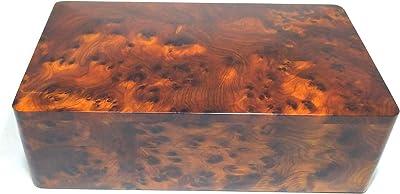 wanaka, Boîte de rangement multifonction en bois sculpté à la main pour bijoux, souvenirs, art décoratif, bureau et maison