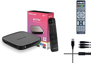 Formuler GTV 4K Ultra HD Media Streaming Box with Free 3in One Charger + Universal Formular-Samsung-LG Remote