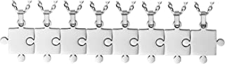 puzzle piece necklace set of 8