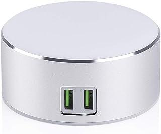 Luz de noche/lámpara de noche inteligente, luz regulable, interruptor táctil, 2 puertos de carga USB inteligente