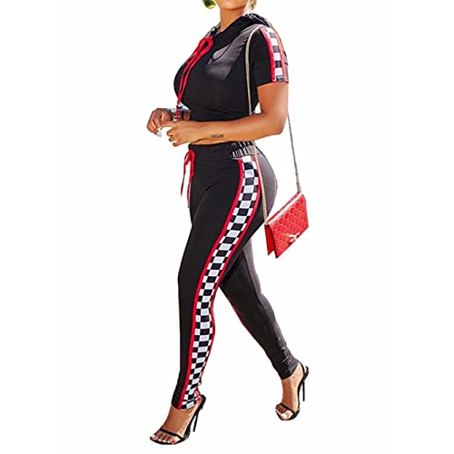 275aef1c34e Adogirl Women s 2 Piece Outfits Tracksuits V Neck Tops and Skinny Pants Jog  Set