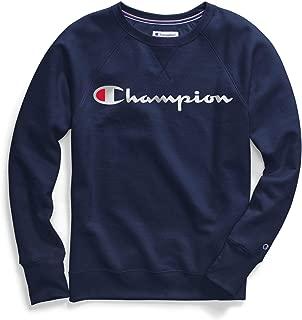 Champion Womens GF567 Powerblend Boyfriend Crew Sweatshirt Long Sleeve Sweatshirt