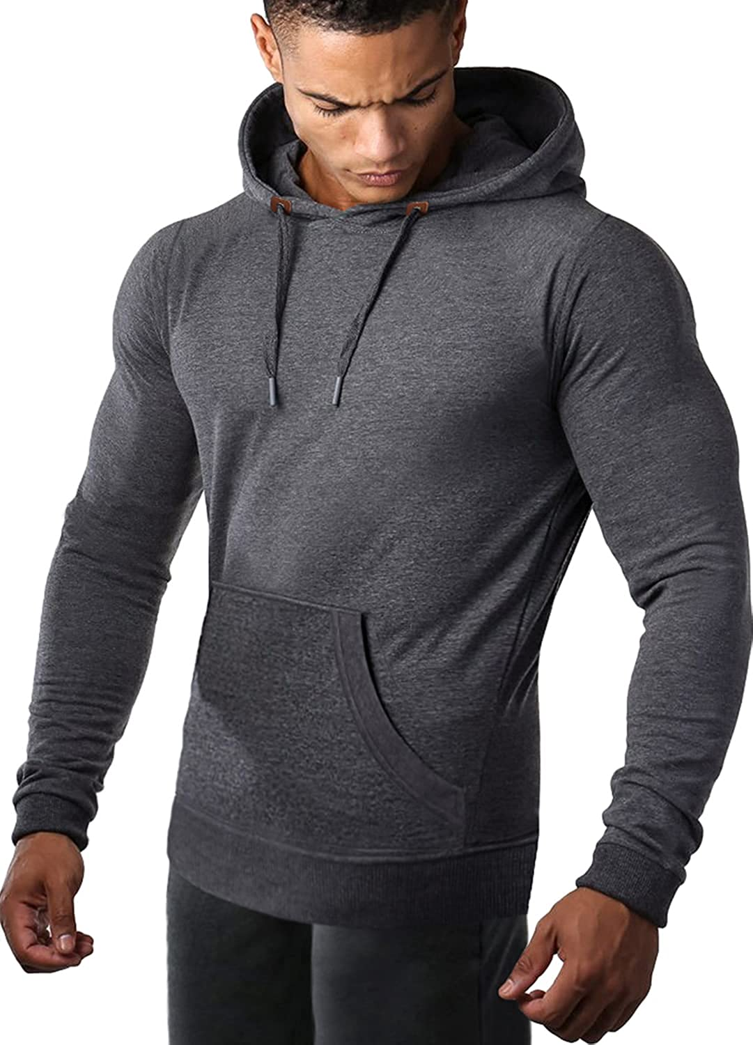 COOFANDY Men's Athletic Hoodie Max 84% OFF Indianapolis Mall Long Pul Sports Drawstring Sleeve