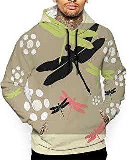 Hoodies Sweatshirt Autumn Winter Dragonfly,Cute Floral Pattern with Abstract Daisies Nature Wildlife Inspired Colorful Print,Multicolor Sweatshirt Blanket