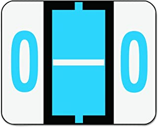 Smead BCCR Bar-Style Alphabetic Color-Coded Labels, Letter O, Blue/White Bar, 500 Labels per Roll (67085)
