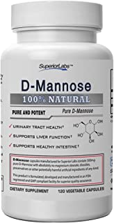 Superior Labs – Best D-Mannose NonGMO Additive Free Dietary Supplement – 500mg, 120 Vegetable Capsules – Po...