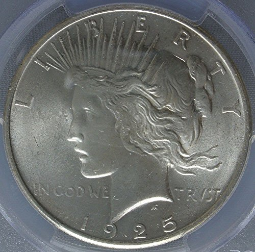 1925 Brilliant Uncirculated Peace Dollar MS-63 PCGS