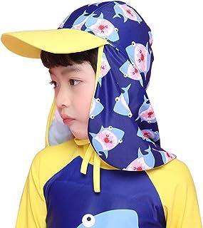 子供水着 日焼け予防UV 日よけ帽子 カットフラップキャップ 水泳帽