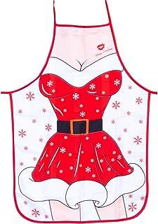 Kerstschorten, cartoon keukenschorten, kerstman, sneeuwman, eland, volwassenen, schort voor kerstfeest, koken, restaurant,...