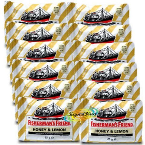 FISHERMAN'S FRIEND MIEL LIMON 12 SOBRES DE 25 GR