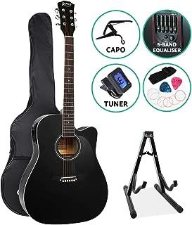 41 Inch Electric Acoustic Guitar Wooden Folk Classical D Shape Full Size Natural Strings Carry Bag Shoulder Strap Picks ALPHA
