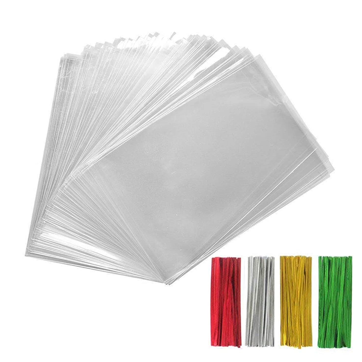 200PCS Treat Bags with 200 4
