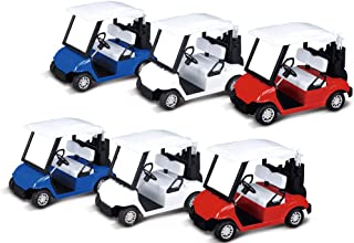 PowerTRC Miniature Golf Cart Die-Cast Model Toy 1:20 Scale 6 Carts Mixed Colors