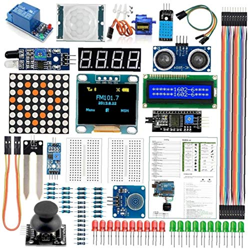 UNO R3 Mega2560 Module Sensor Kit, Project Most Complete Starter Kit Electronic Components Set Basic Starter Kit Industrial Accessories