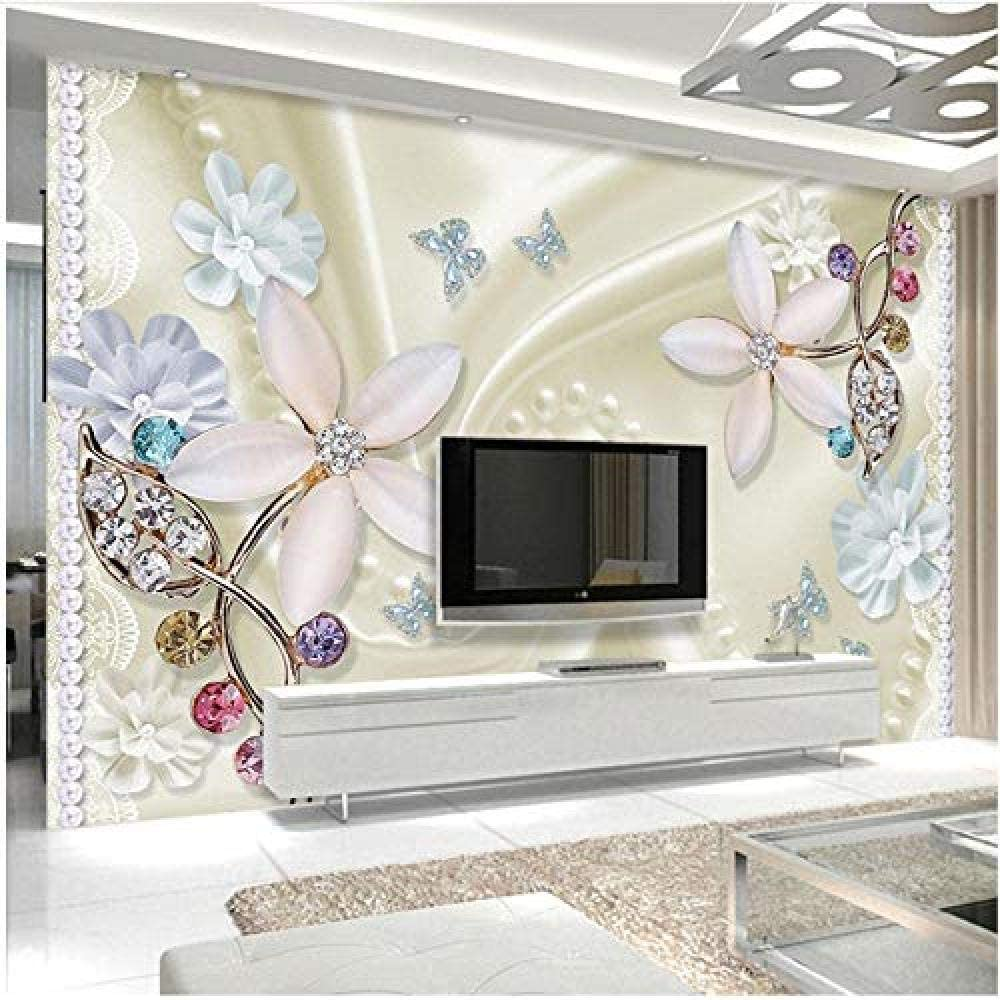 Clhhsy Waterproof and Removable 3D Popular Wallpaper Jewelry Max 71% OFF Gorgeous Fl