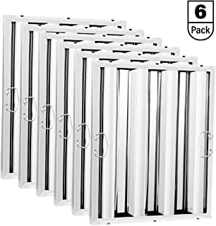 TOP KITCHEN Stainless Steel Hood Filter, Baffle Filter, 16