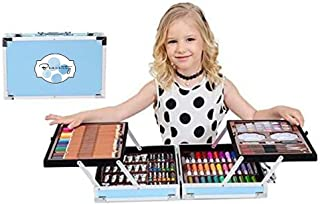 Beauenty Deluxe Art Set 145-Piece 2 Layers, Kids Art Supplies for Drawing, Painting, Portable Aluminum Case Art Kit for Ki...