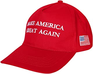RONSHIN Make America Great Again Hat Donald Trump 2016 Republican Adjustable Baseball Cap Unisex-Adult Black Peace Red Peace One Size