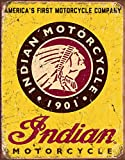 Desperate Enterprises Indian Motorcycle Since 1901 Tin Sign, 12.5' W x 16' H