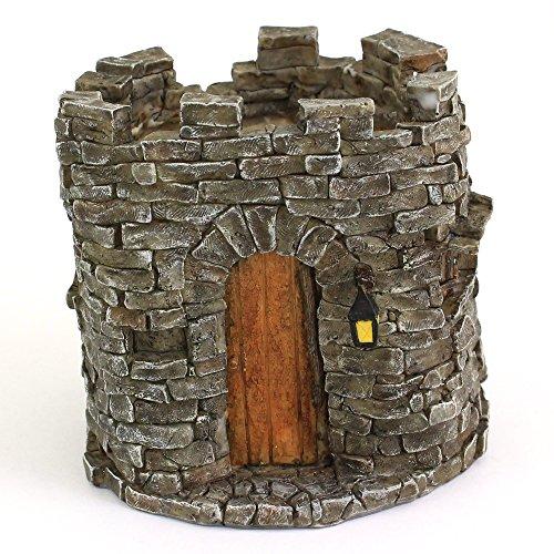 Top Collection 4-Inch Miniature Fairy Garden and Terrarium Castle Functional Flower Pot for Succulents, Mini