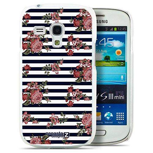Zanasta Designs Custodia Samsung Galaxy Note 4 Slim Case Cover con Alta Qualità Motivo Disegno Roses Stripes (Roses Stripes)