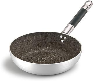 Ollas Agnelli Infinity Pan avellanado Alta, Saltar, Aluminio, Mango de Acero Inoxidable Tubular con Cool, de Plata, 40 cm