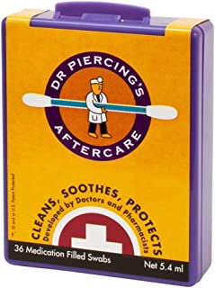 Dr. Piercing Aftercare Product, 36 Swab Piece