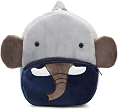 Frantic Premium Quality Soft Blue Elephant Velvet Plush Bag for Kids