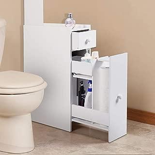 JAXSUNNY Bathroom Storage Cabinet Floor Standing Narrow Cupboard Bathroom Organizer with Drawers