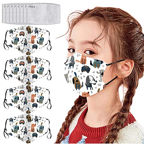 Why Should You Buy aiyoumei (US Shipping) 4PCS Reusable Washable Face Bandanas with 8pcs Filters,Boy...