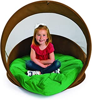 Hideaway Log Chair with Cushion ,Kids Retreat Quiet Space Play Tent by Environments (Item # BURROW)