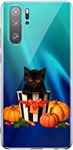 Fvntuey Case for Huawei Mate 20 Lite Clear Soft Cover Pattern (Halloween Pumpkin Heartbeat) Full Body Protective Shell Ultra-Thin Silicone 360° Bumper Accessories Compatible with Huawei Mate 20 Lite