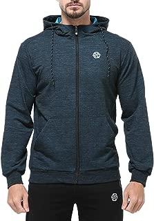 Mens Hoodie Jacket Zip up Hooded Sweatshirt Zipper Jacket Long Sleeve Lightweight Workout Hoodie with Front Pockets