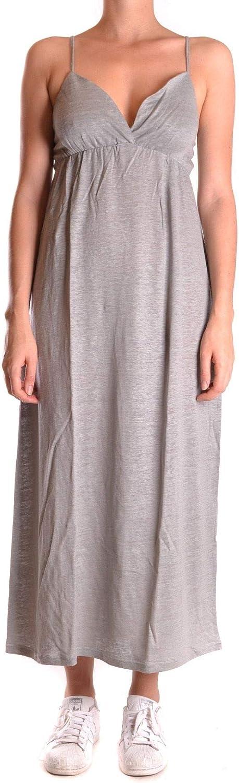 Sun 68 Women's MCBI26731 Grey Linen Dress