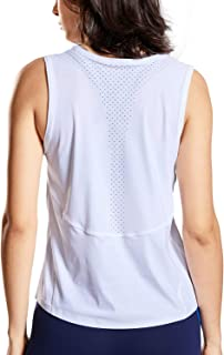 CRZ YOGA Workout Tanks Top for Women Relaxed Fit Sleeveless Tops Yoga Shirts