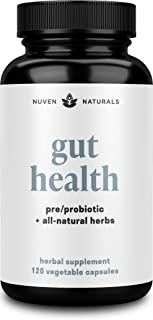 Sponsored Ad - All-in-One Gut Health w/Premium Probiotics, Organic Prebiotics, Digestion-Boosting Herbs, and Adaptogens - ...