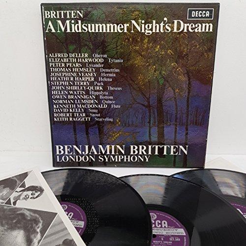 Benjamin Britten, London Symphony* ?– A Midsummer Night's Dream, SET 338-40, 3x12' LP, box set