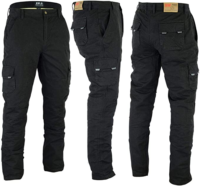 Motorbike Motorcycle Protective Lining Blue Denim Trousers Jeans Pant With Leather Padded Armour Blue, W40-L32