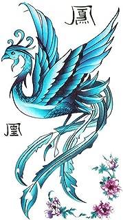 SPESTYLE waterproof non-toxic temporary tattoo stickerstemp tattoos female waterproof blue phoenix pattern peony