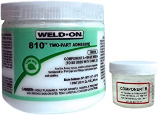 Weld-On 10812 Two-Component Reactive Adhesive, Can with Applicator Cap, 1 pint, White