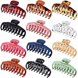 12 PCS Hair Claw Clips Hair Accessories Banana Hair Claw Clips for Women Girls Nonslip Colorful Strong Hold Hair