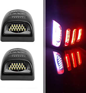 BASIKER LED License Plate Lights Replaces for 1999-2013 Chevy GMC Pickup Truck Cadillac Trucks Chevy Silverado Avalanche S...