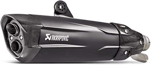 Akrapovic Slip-On Exhaust (Homologated/Black Titanium with Carbon Fiber End Cap) for 17-18 BMW S1000RR
