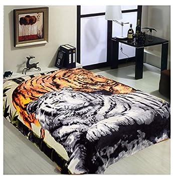 Tiger Blanket Mink Blanket Korean Blanket Heavy Blankets Queen Size Tiger Throw Blanket Korean Mink Blanket Tiger Statue Animal Blanket Bed Warm Blanket Full Queen Animal Blankets Mexican Blanket
