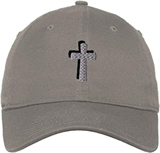 Custom Soft Baseball Cap Cone Cross Twin Black Silver Embroidery Twill Cotton